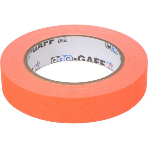 "ProTapes Pro Gaff Adhesive Tape (1"" x 25 yd, Fluorescent Orange)"