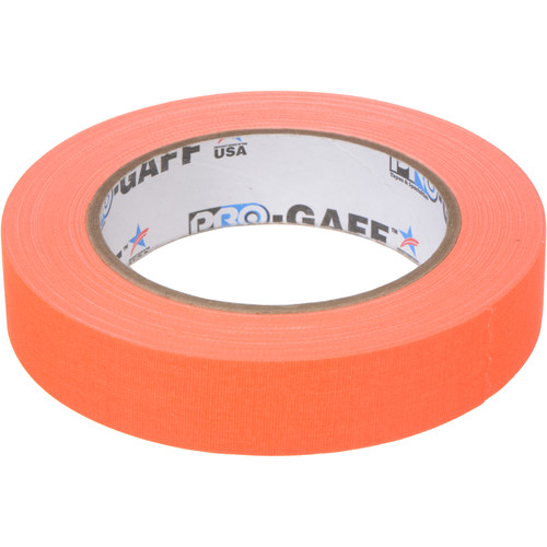 "ProTapes Pro Gaff Adhesive Tape (1"" x 25 yd, Fluorescent Orange)"