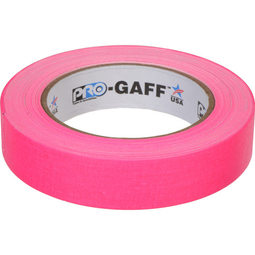 """ProTapes Pro Gaff Adhesive Tape (1"""" x 25 yd, Fluorescent Pink)"""