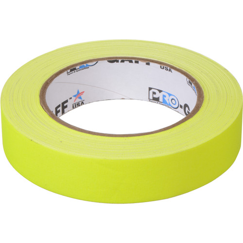 """ProTapes Pro Gaff Adhesive Tape (1"""" x 25 yd, Fluorescent Yellow)"""