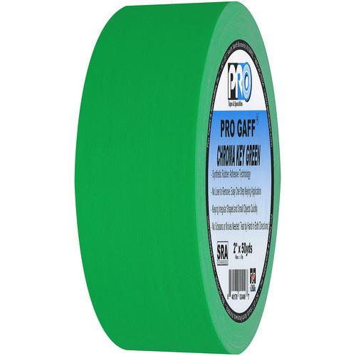 "ProTapes Pro Gaff Adhesive Tape (2"" x 50 yd, Chroma Key Green)"