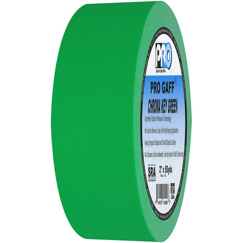 "ProTapes Pro Gaff Adhesive Tape (3"" x 50 yd, Chroma Key Green)"
