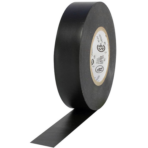 """ProTapes P-28 All-Weather Vinyl Electrical Tape (3/4"""" x 66', Black)"""