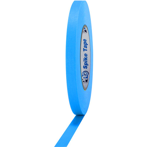 """ProTapes Pro Spike Fluorescent Cloth Gaffers Tape (0.5"""" x 45 yd, Fluorescent Blue)"""