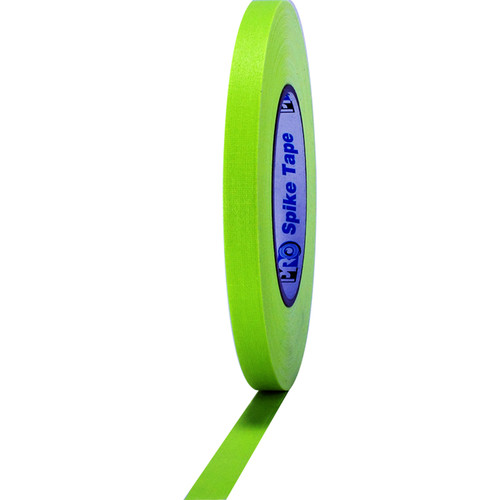 """ProTapes Pro Spike Fluorescent Cloth Gaffers Tape (0.5"""" x 45 yd, Fluorescent Yellow)"""