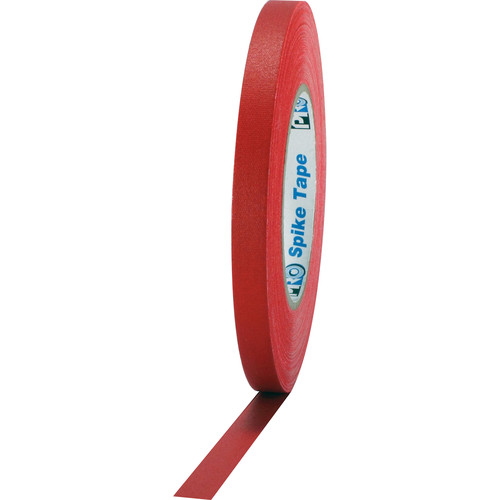 "ProTapes Pro Spike Cloth Gaffers Tape (0.5"" x 45 yd, Red)"