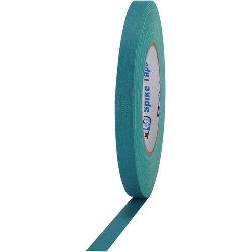 "ProTapes Pro Spike Cloth Gaffers Tape (0.5"" x 45 yd, Teal)"
