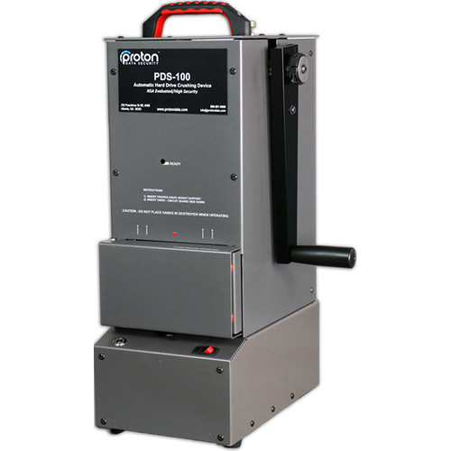 Proton Data PDS-100 NSA Approved Motor And Manual Hard Drive Destroyer