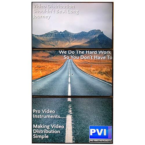 ProVideoInstruments VuMATRIX 3x1 Turn-Key 4K Video-Wall System