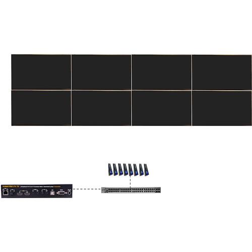 ProVideoInstruments VuMATRIX 4x2 Turn-Key 4K Video-Wall System