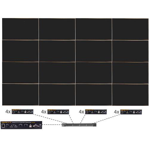 ProVideoInstruments VuMATRIX 4x4 Turn-Key 4K Video-Wall System