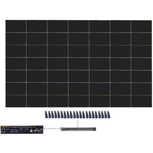 ProVideoInstruments VuMATRIX 7x7 Turn-Key 4K Video-Wall System