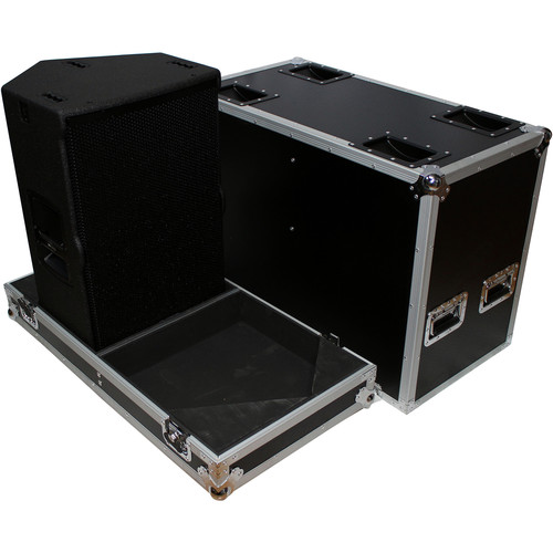 "ProX 2X X-RCF-TT25-AX2W II High Definition 2-Way Speaker Flight Case with 4"" Wheels"