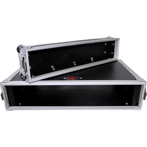 "ProX X-2UE Deluxe Effects Rack with Handles, 14"" Deep (2 RU)"