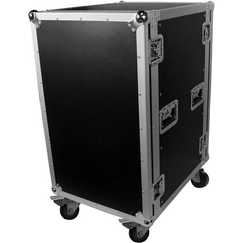 """ProX T-18RSS Amp Rack ATA Flight Case (19"""" Depth, 18 RU, with Casters)"""