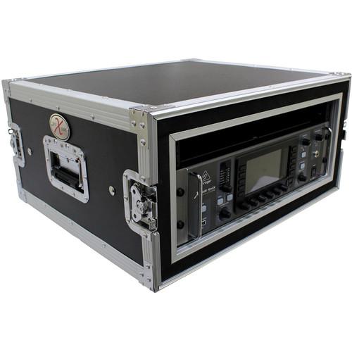 "ProX T-4RSP Shockproof ATA Amp Rack Flight Case (20"" Depth, 4 RU)"