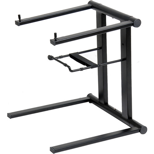 ProX T-LPS600B Foldable Portable Laptop Stand with Adjustable Shelf (Black)