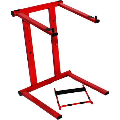 ProX T-LPS600R Foldable Portable Laptop Stand with Adjustable Shelf (Red)