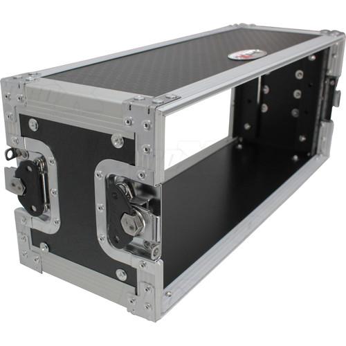 """ProX X-4U7D Deluxe Effects Rack with Handles, 7"""" Deep (4 RU)"""