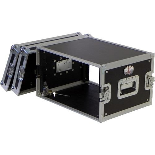 "ProX Road Gig Ready Flight Case with 6 RU Vertical Spaces, 14"" Deep, and Dual Rack Rails"