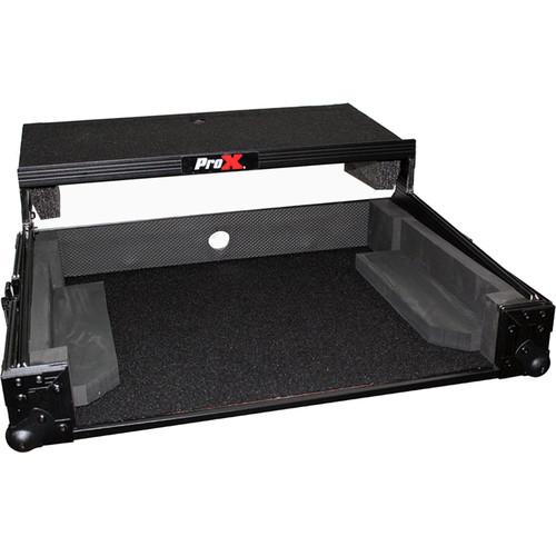 ProX X-DJ202LTBL Flight Case with Shelf for Roland DJ-202 Controller (Black on Black)