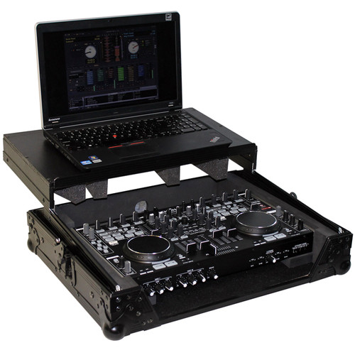 ProX Flight Case with Laptop Shelf for Denon DNMC6000 Digital Controller (Black-Black)
