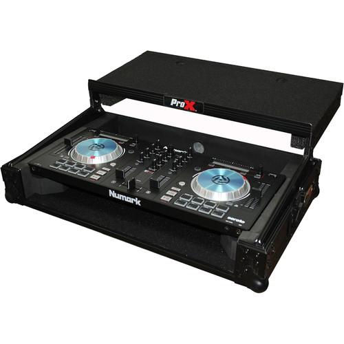 ProX Flight Case for Numark MixTrack3 Pro3 Platinum Digital Controller with Laptop Shelf(Black/Black)