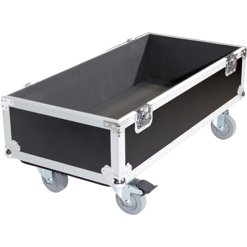 ProX Flight Case with Wheels for QSC KS212C Subwoofer (Silver on Black)