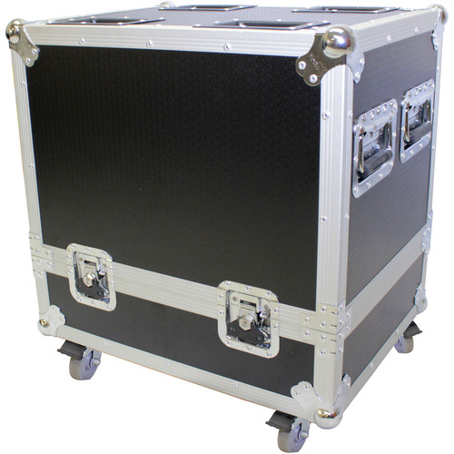 ProX Dual Flight-Road Case for 2-RCF HDL 6-A Line Array Speakers with Wheels