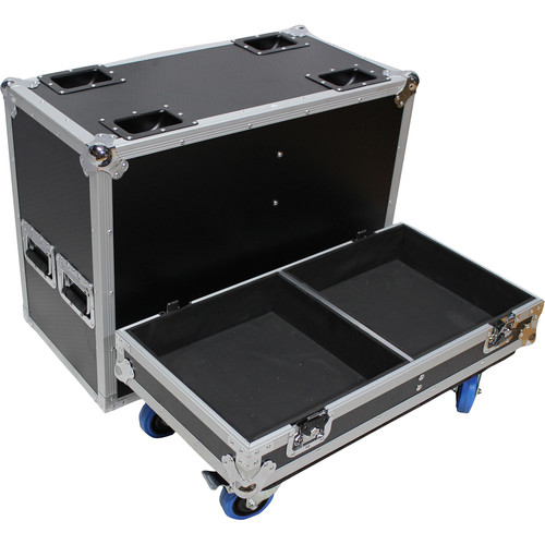 ProX Wheeled Flight Case for Two RCF TTL6-A Three-Way Line Array Module Speakers