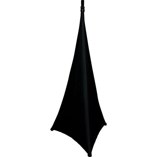 ProX Tripod Speaker & Lighting Stand Cover Scrim (Three-Sided, Black)