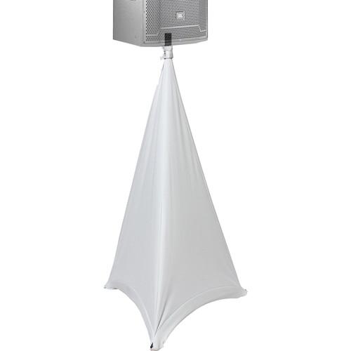 ProX Tripod Speaker & Lighting Stand Cover Scrim (Three-Sided, White)