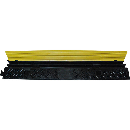 """ProX 2-Channel Floor Cable Protector (39"""" Long Module, 1.25"""" Channel Width)"""