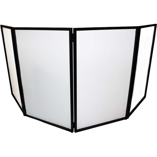 ProX DJ Facade - Aluminum 4-Panel Scrim Package with Bag and Black/White Scrims (Black)