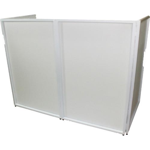 ProX Portable 4-Panel DJ Facade (White Frame)