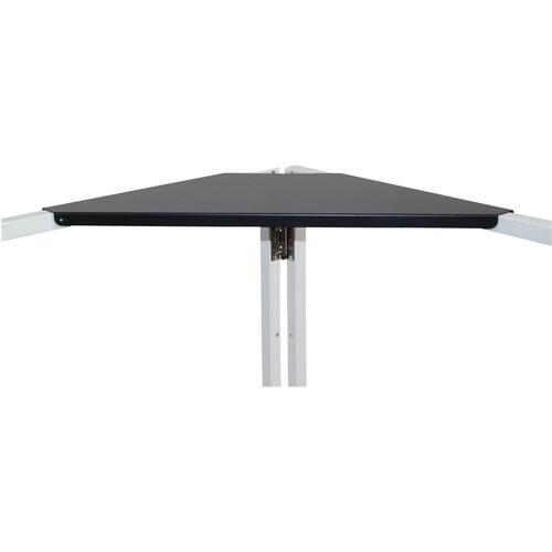 ProX XF-CSB X2 Aluminum Corner Shelf for DJ Facade (Pair, Black)