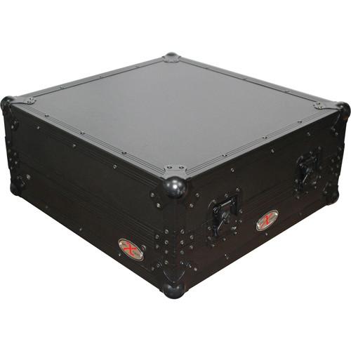 """ProX XS-19MIXLTBL 19"""" Slant Rackmount Case (10 RU, Black on Black)"""