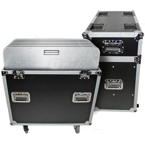 """ProX Flight Case with Six 24 x 24"""" Aluminum Trussing Base Plates"""