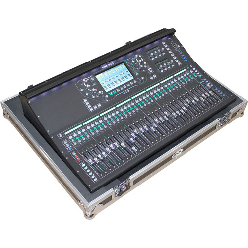 "ProX Flight Case for Allen and Heath SQ7 Digital Mixer Console with 2  - 2"" Low Profile Wheels"