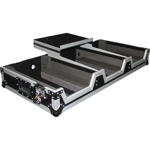ProX DJ Coffin Flight Case for Pioneer DJ DJM-900 Mixer and Two CDJ-2000NXS2 Players (Silver on Black)