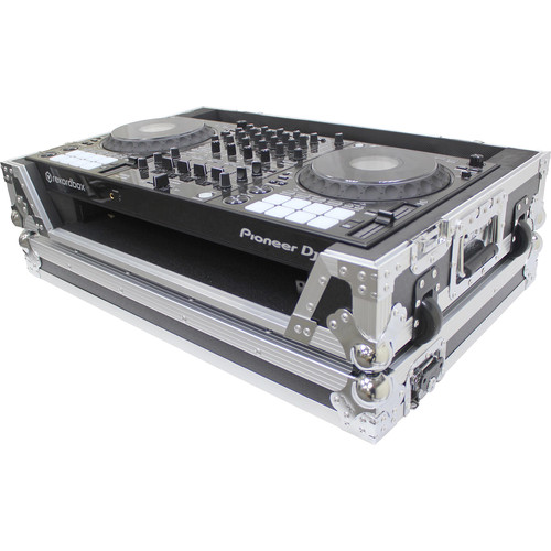 ProX Flight Case for Pioneer DDJ100 Controller with Wheels (Silver-on-Black)