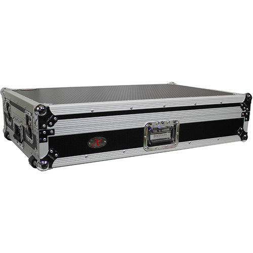 ProX Flight Case for Pioneer DDJ-SZ and DDJ-SZ2 Controllers with Wheels (Silver on Black)