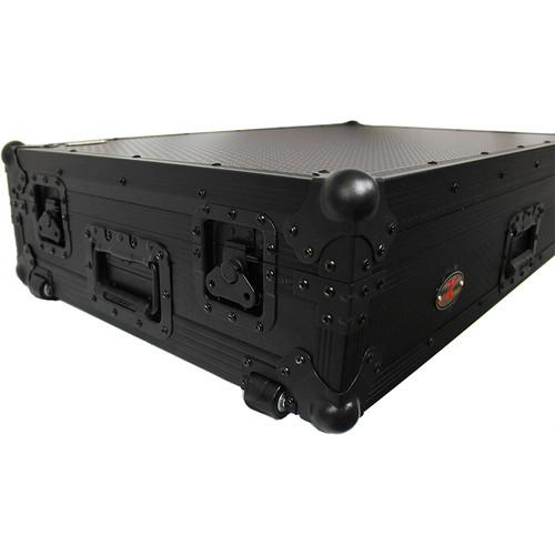 ProX Flight Case for Pioneer DDJ-SZ and DDJ-SZ2 Controllers with Wheels (Black on Black)