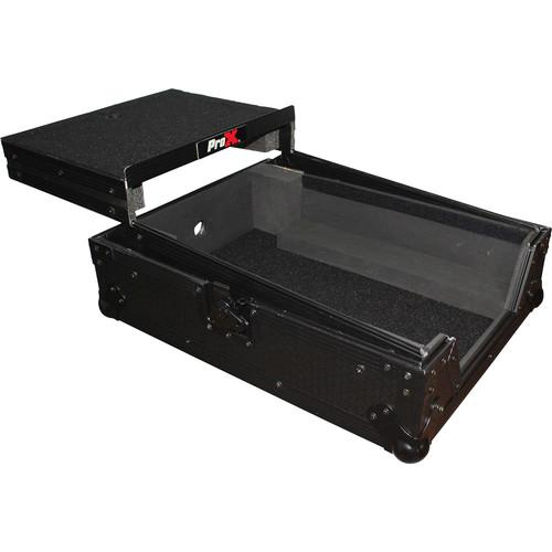 ProX XS-DJMS9LTBL Flight Case with Sliding Laptop Shelf for Pioneer DJM-S9 Mixer (Black on Black)