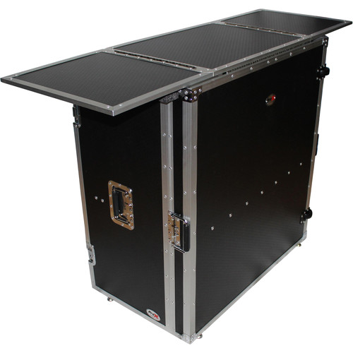 ProX Transformer Series Fold-Away DJ Performance Desk Facade with Wheels