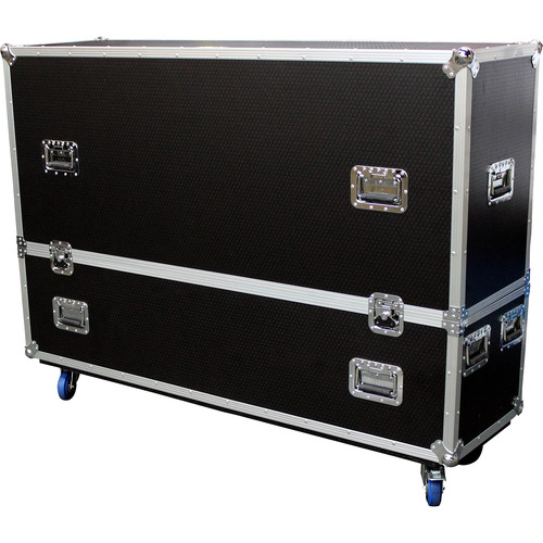 """ProX Adjustable Dual Flight Case with Casters for LED/LCD/Plasma TVs (60 to 70"""")"""
