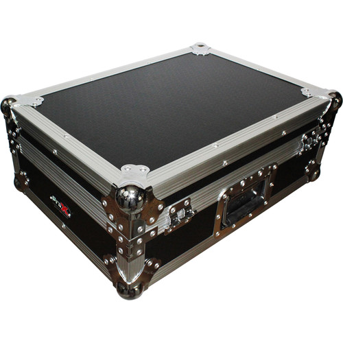 """ProX Mixer Case for Large Format 12"""" DJ Mixers (Silver on Black)"""