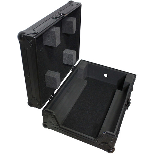 "ProX Mixer Case for Large Format 12"" DJ Mixers (Black on Black)"