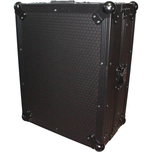 "ProX Mixer Case for Large Format 12"" DJ Mixers with Laptop Shelf (Black on Black)"
