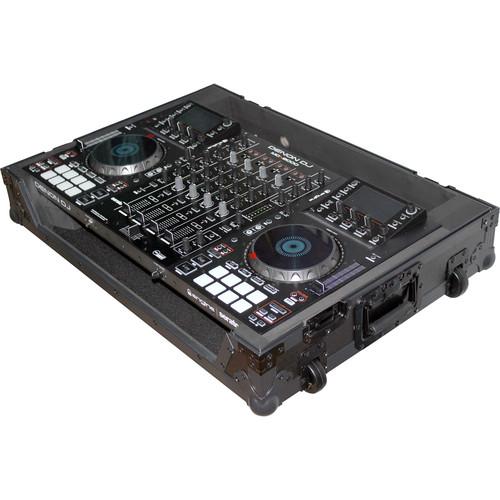 ProX Flight Case with Wheels for Denon DJ MCX8000 Controller (Black on Black)